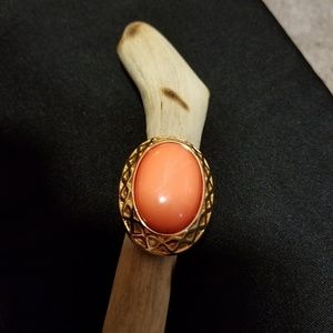 Coral colored ring